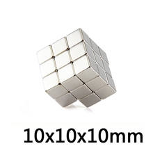 *50/100/500 pcs Neodymium Magnets Cube 10*10*10mm Block Super Strong Rare Earth N35 10x10x10 mmArt Craft Connection
