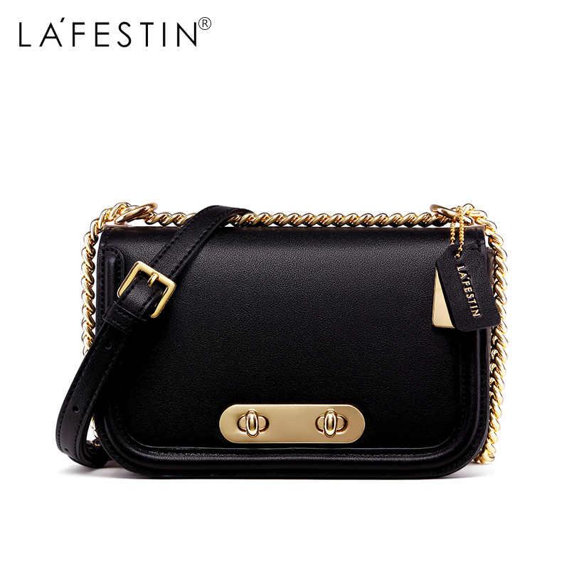 LAFESTIN брендовая сумка на плечо женская сумка через плечо с клапаном Роскошная известная Дизайнерская Женская Высококачественная женская сумка Bolsa Feminina