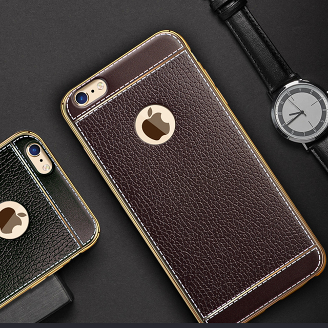 Luxury Leather Pattern back cover coque case for iPhone X silicone silicon original phone cases For iPhone 5 6 6S 7  8 plus
