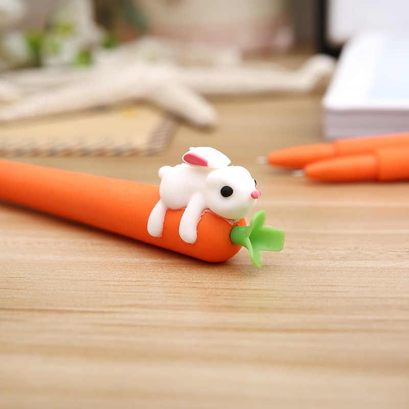 Koreanische Briefpapier Kreative Karotte Kaninchen Gel Stifte Kawaii Stift 0,5mm Gel Ink Pen