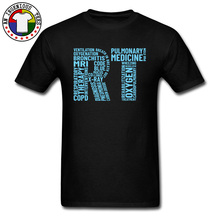 RT Respiratory Therapist Therapy Pulmonary 3D Printed T Shirt Letter Patchwork Engineer Men Tops Black Popular Tshirts
