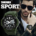 SKMEI Sports Brand Watch Men's Digital Quartz Dual Display Alarm Wristwatches Outdoor Military LED Casual Watches