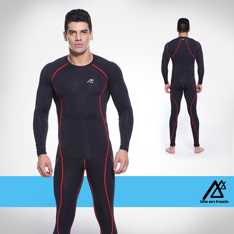 PRO фитнес comepression базовый слой для мужское трико одежда мужская Баскетбол футбол Бег одежда - 3