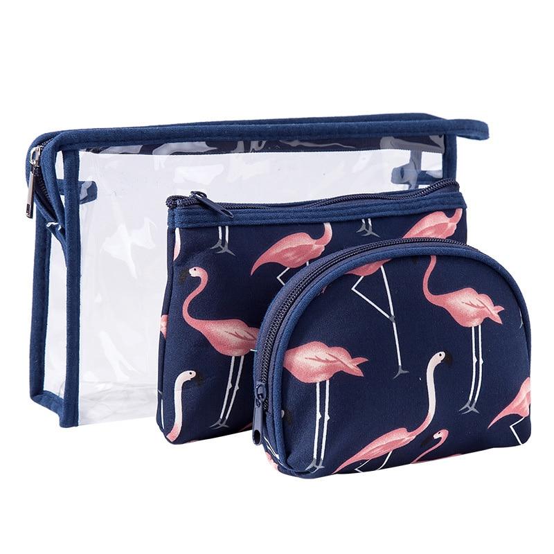 Bags Makeup-Bag Beauty-Case Travel-Organizer Clear Fashion Portable Women's Three-Piece