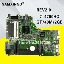 X750JB материнской i7-4700HQ GT740M/2 ГБ Оперативная память для ASUS A750J K750J K750JB Материнская плата ноутбука X750JB плата X750JB Тесты 100% OK