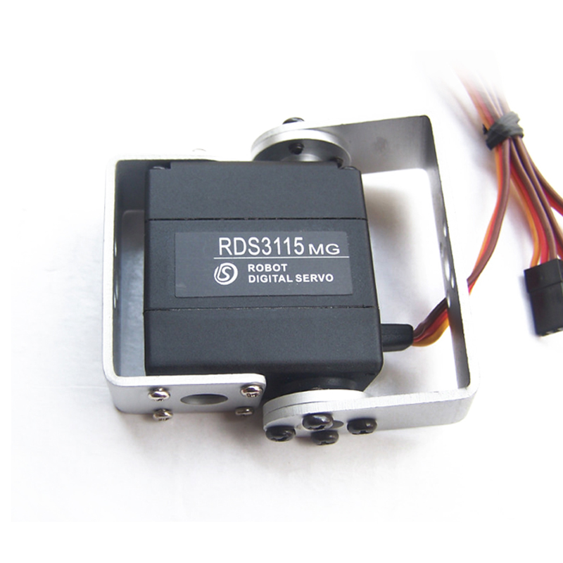 Free shipping High quality metal digital robot servo RDS3115 15Kg for Futaba JR rc Car helicopter airplane robot machine  high quality emax es3154 digital mini servo with parts for rc airplane model available fur jr plug