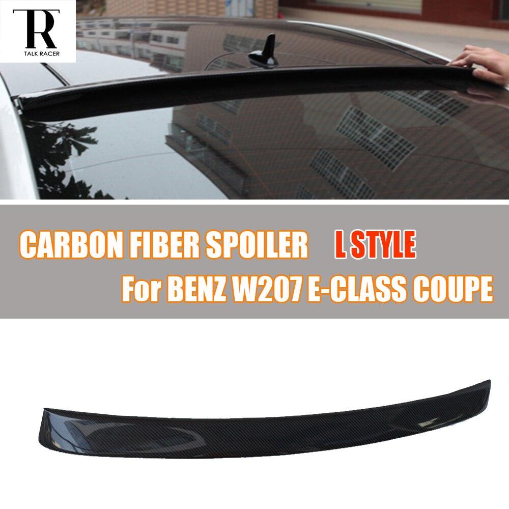 W207 C207 Carbon Fiber Rear Roof Window Spoiler for Benz W207 C207 E Class Coupe E200 E260 E300 E350 2 Door 2012 - 2016 цена