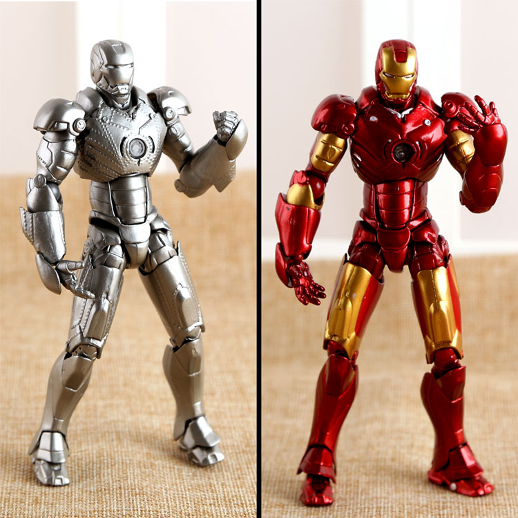 SCI-FI Revoltech Series NO.036 Iron Man Mark III MK3 NO.035 Mark 2 Mark II PVC Action Figure Collectible Model Toy 15cm KT1789