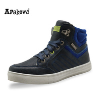 Apakowa Mid Cut Kids Shoes Fashion Sport Children Shoes Spring Autumn Sneaker Shoes For Boys Zip