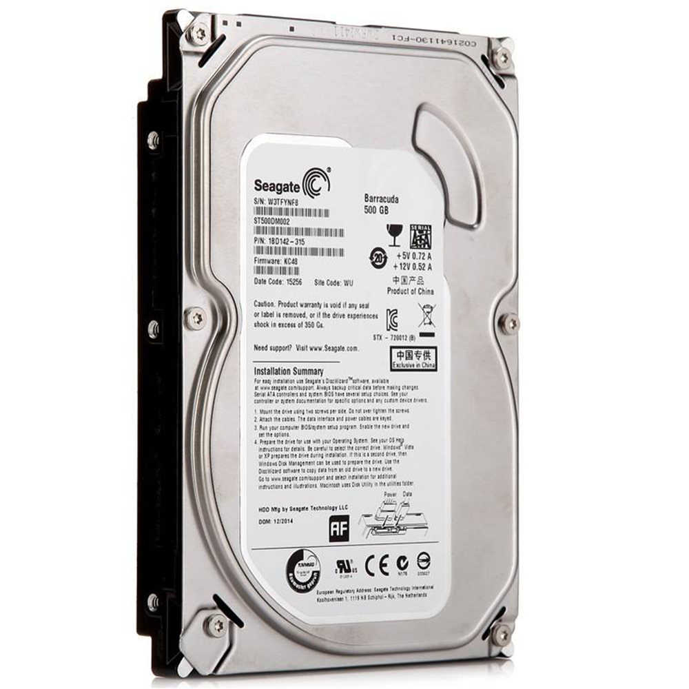 """Бренд Seagate 500 ГБ настольный ПК 3,5 """"Внутренний механический жесткий диск SATA 3 ГБ/сек. HDD 500 Гб 5900 об/мин 8 Мб/32 Мб буфер"""