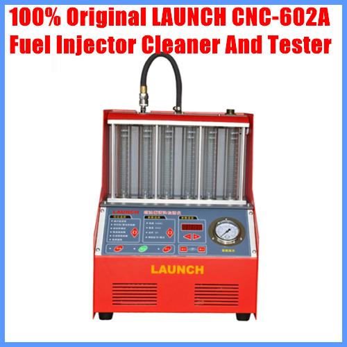 Launch <font><b>CNC602A</b></font> Fuel injector cleaner and tester With English Panel free shipping image