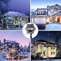 2017 B00073 LED Snow Projector Light IP44 Waterproof Outdoor White Dot Christmas Lights Spotlight Snow Garden