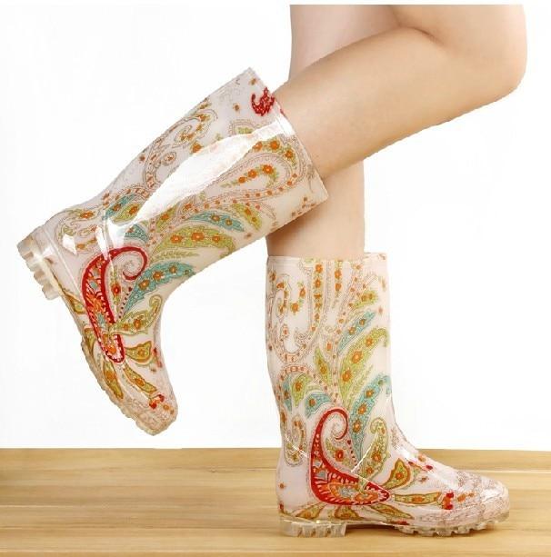 Aliexpress.com : Buy Tall elegant crystal clear jelly rain boots ...