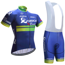 Orica Cycling Jersey Gel Bib Shorts Ropa Ciclismo Breathable Pro Cycling Jersey Summer Cycling Maillot Culotte