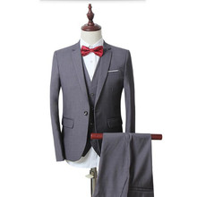 Men's suits The latest design Three-piece Suit Business Fashion Man's wedding suits tuxedos High Quality  men Suits