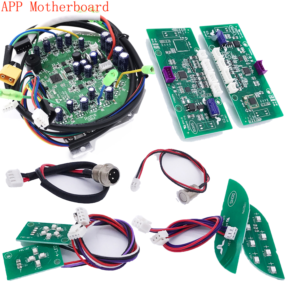 App Hoverboard Mainboard Scooter Motherboard Control Board for Oxboard 6.5 8 10 inch 2 Wheel Self Balance Skateboard Hover Board 8 inch hoverboard 2 wheel led light electric hoverboard scooter self balance remote bluetooth smart electric skateboard