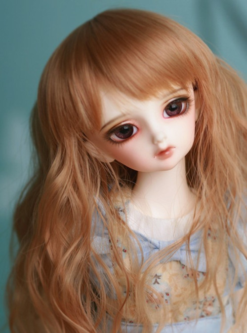 Newest 1/6 6-7 Bjd Sd Wig Wavy Cute High Temperature Wire For Doll Wig Free Shipping free shipping amagi brilliant park latifah fururanza 100cm blond wavy cosplay wig spot high quality