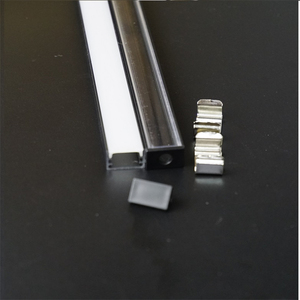 Image 2 - 10 30 סט\חבילה 2m 80 אינץ anodized שחור led אלומיניום פרופיל עבור 12/24v רצועת שטוח slim אלומיניום ערוץ, 90/180 תואר מחבר