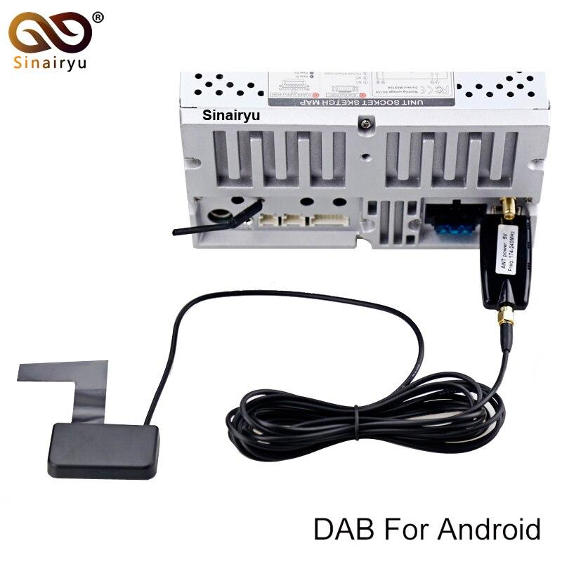 Voiture DVD DAB/DAB + usb dongle Tuner/Boîte USB Numérique Audio Récepteur de Radiodiffusion inclure L'antenne Fonctionne Pour l'europe