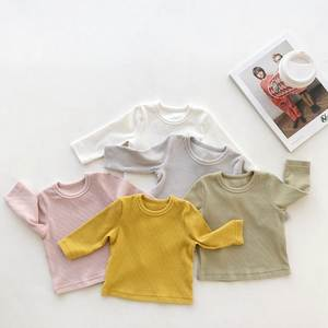 Celveroso spring Newborn Baby T Shirts pure color Top Tees long Sleeve Cotton T Shirt For Kids Boy Girl Clothing