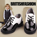 2016 Весна Осень Детская Обувь Оксфорд Мальчики Формальные Кожаная Обувь для Свадьбы Дети Черный Школы Обувь