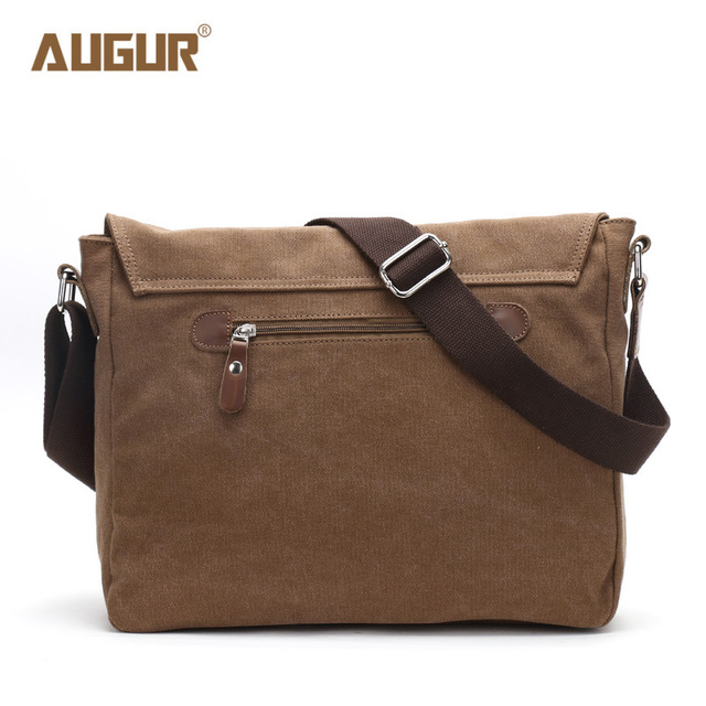 Canvas Leather Crossbody Bag Men Military Army Vintage Messenger Bags Shoulder Bag Casual Travel Bags 3