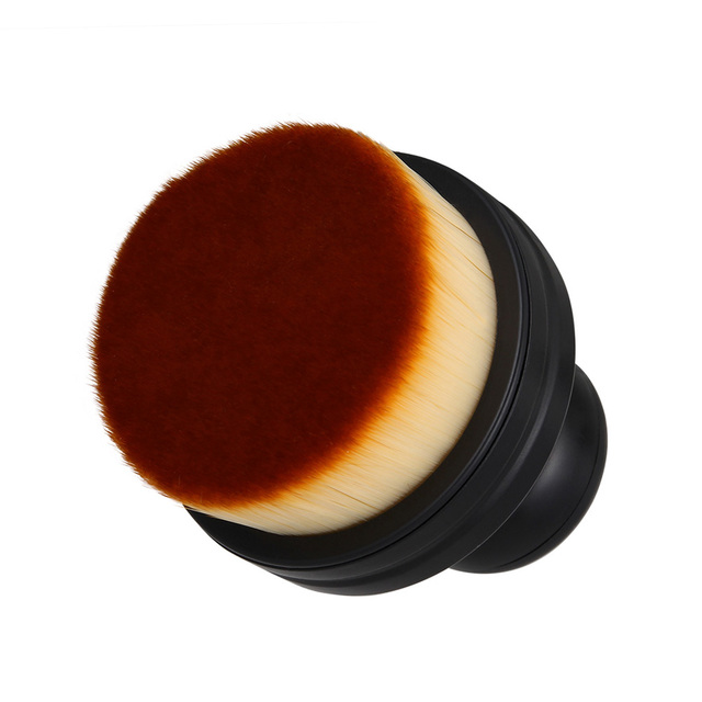 Portable Round Makeup Brush with Case