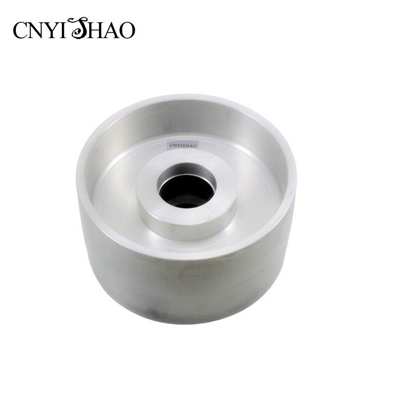 CNYISHAO aluminium roue de Contact 185*95mm couteau polissage roue bande ponceuse ensembles pour le meulage du bois