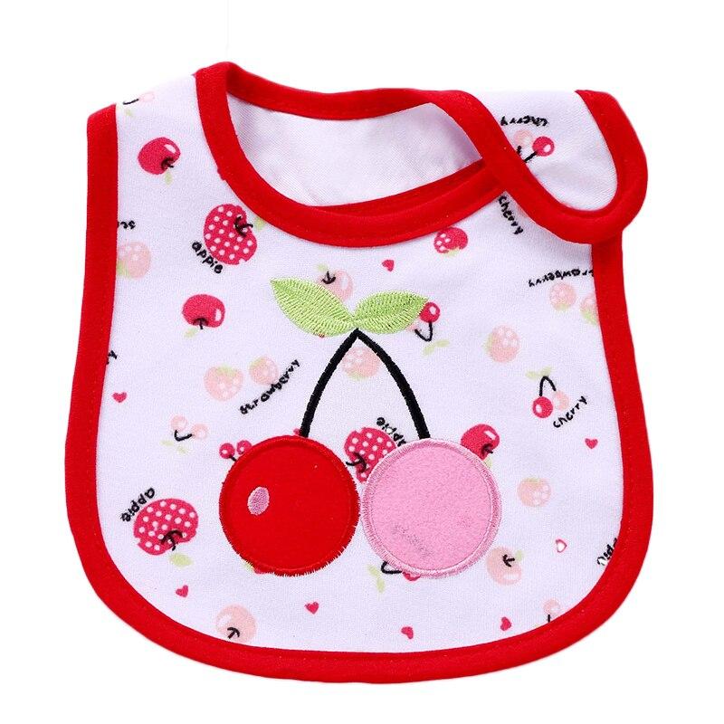Cartoon Fruit Toddler Bibs Baby Bib Cotton Adjustable Waterproof Baby Feeding Accessories Embroider Newborn Bibs Apron 20CM*31CM