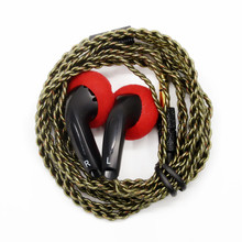 Newest FENGRU DIY EMX500 In-ear Earphones Flat Head Plug DIY Earphone HiFi Bass Earbuds