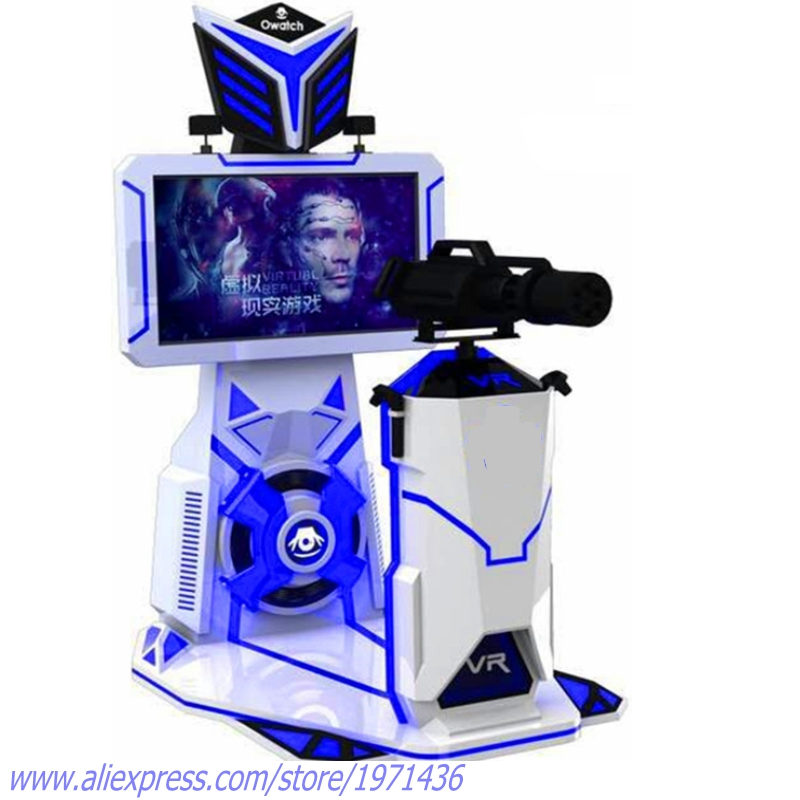 Body Feeling Somatic Amusement Equipment 9D font b VR b font Gun Shooting Game Machine