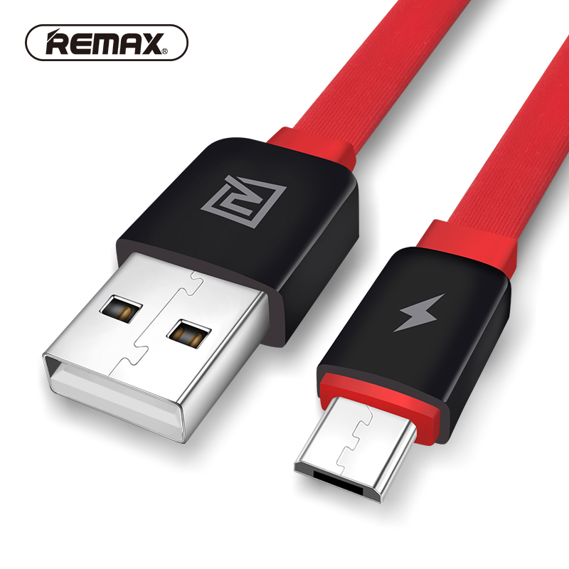 REMAX Flat Micro USB data cable 2.1A USB Side fast charging flexible sync charger data cable for samsung/xiaomi/HTC/huawei