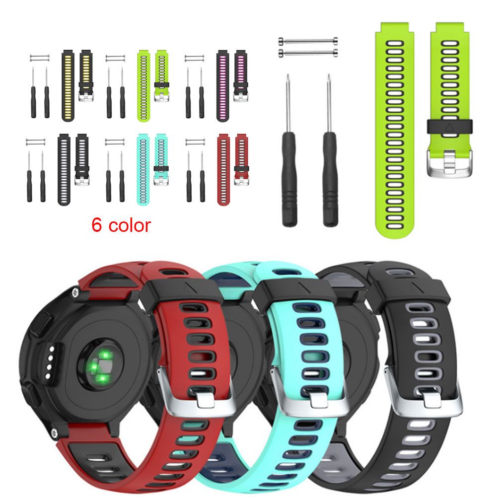 New Replacement Silicone Watch Band Outdoor Sport Watchstrap for Garmin Forerunner 735XT/220/230/235/620/630 GDeals
