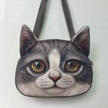 Femmes sacs à main 3D Animal impression une épaule sac chat sac dames sacs à main bolsos mujer pochette sacs à main et sacs à main