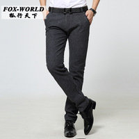 New 2016 Men Summer Thin Cotton Casual Pant Straight Man Slim Khaki Overall Fashion Trousers Size