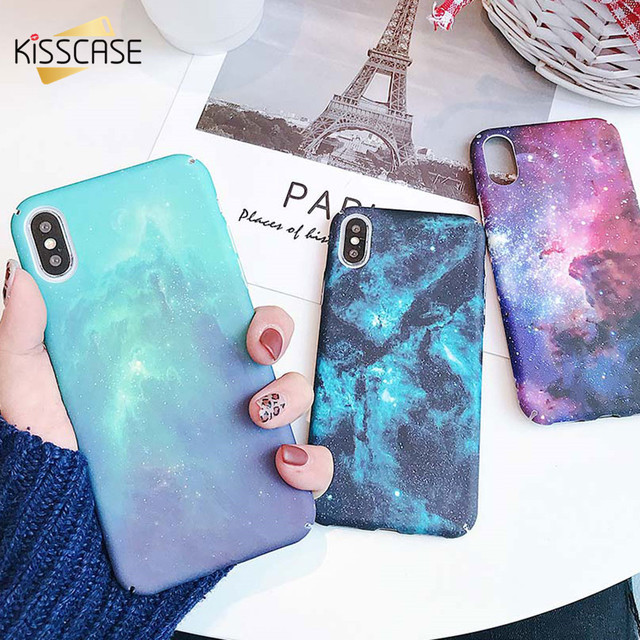 KISSCASE Starry Night Pattern Hard Case For Samsung Galaxy A50 Shining Star River Pattern Case For Samsung A7 2018 S8 S9 Capinha