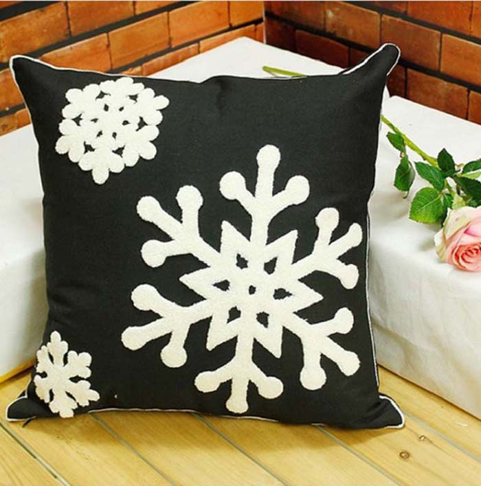 Christmas Cushion Covers Snowman Santa Claus Snowflake Pillow Case Merry Festival Bedroom Sofa Decoration In Cover From Home Garden On