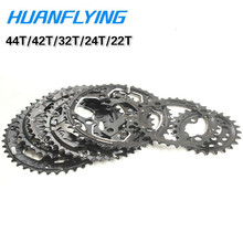 Bicycle ChainWheel Crankset Tooth Plate BCD104 22T 24T 32T 42T 44T Cycling Steel Ultralight Crank Chainwheel Accessories цена и фото