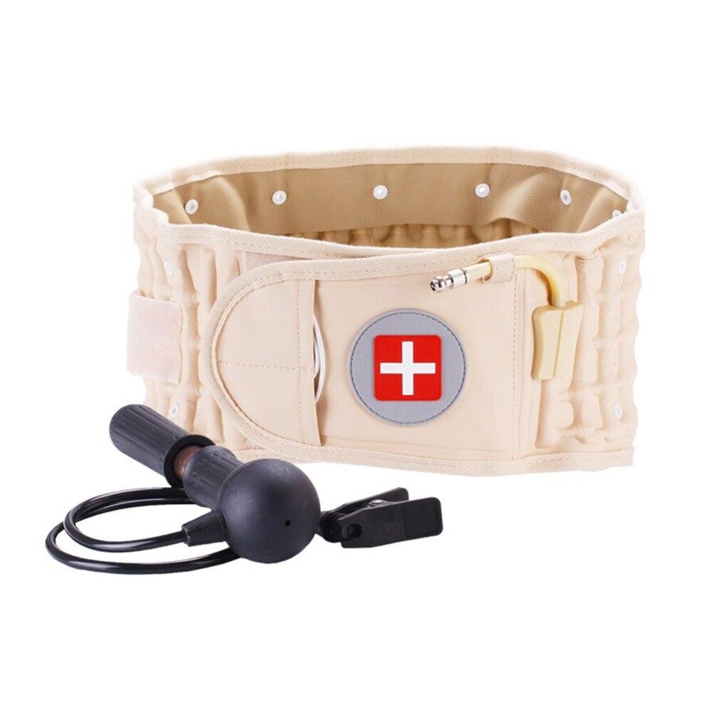 Back Massage Stretcher Decompression Back Belt Pneumatic Traction Belt Lumbar Traction Device Waist Neck Relax Chiropractic