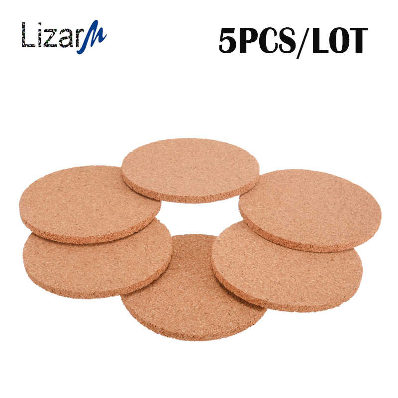 5PCS/lot Cork Coasters Cup Coaster Table Drink mat Round Wood stand hot Set coffee Tea Mug placemat Kitchen Heat Resistant mats
