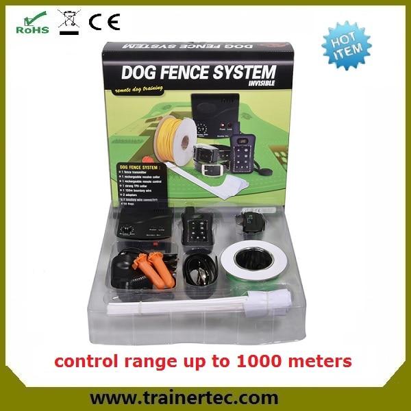 Bezpečné elektrické Pet Containment System včetně nastavitelných vodotěsných obojků pro psy s dobíjecí baterií