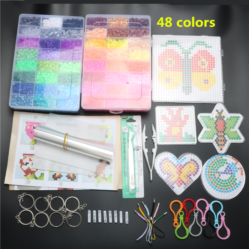 5mm 48 Colors 9200pcs Hama Beads Pegboard Toy DIY Hama Beads Set Educational Tangram Puzzle Kids Toy