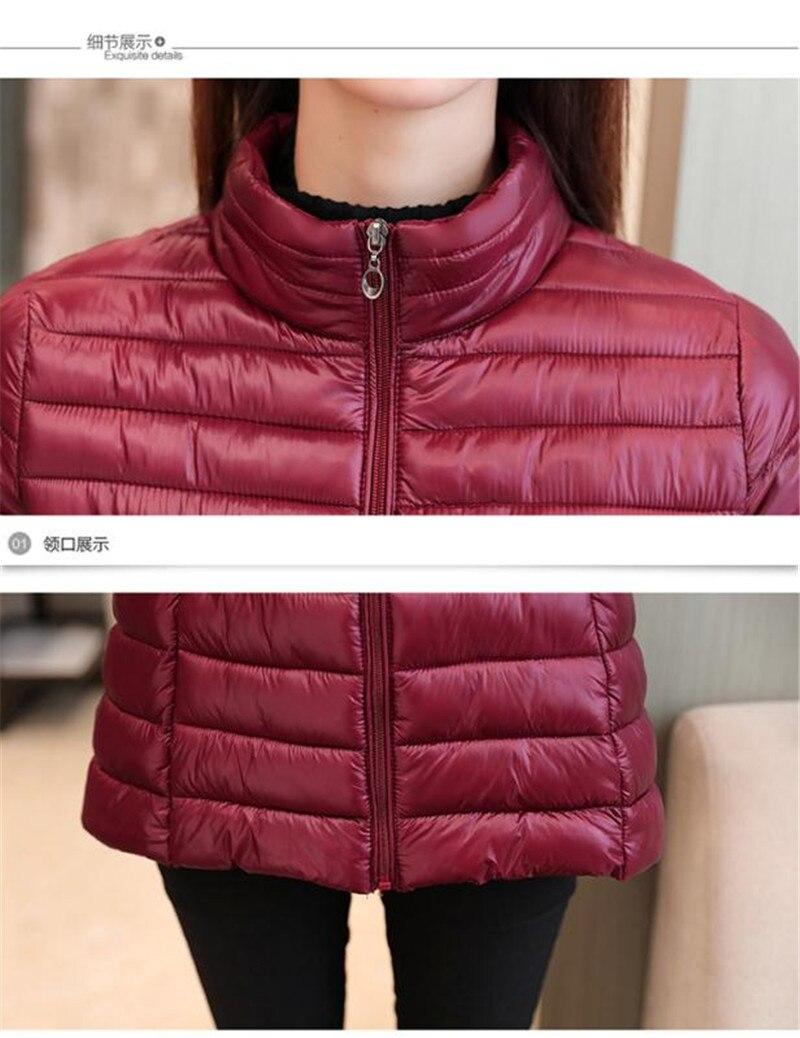 Nuevo negro Invierno Ultra Chaqueta Portátil Viento rosado Red Delgadas Tamaño Mujeres Gran Dark Ligero Abrigo Globo rojo De 2018 qIwEfaH