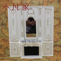 1/12 scale fine dollhouse miniature furniture Hand painted overall fireplace