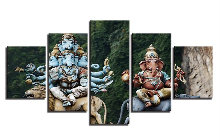 Full Diamond Embroidery House Decoration Rhinestone Mosaic Diamond Paint Photos Hindu God Ganesha Elephant Elegant Appearance Diamond Painting Cross Stitch