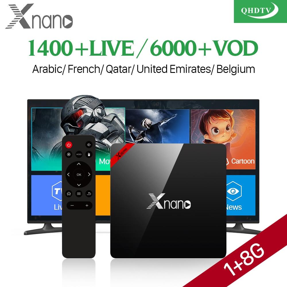 IPTV Box Arabic France QHDTV Code Abonnement Europe Subscription 1 Year IPTV Belgium Spain Italy Xnano Smart Android 6.0 TV Box belgium culture smart