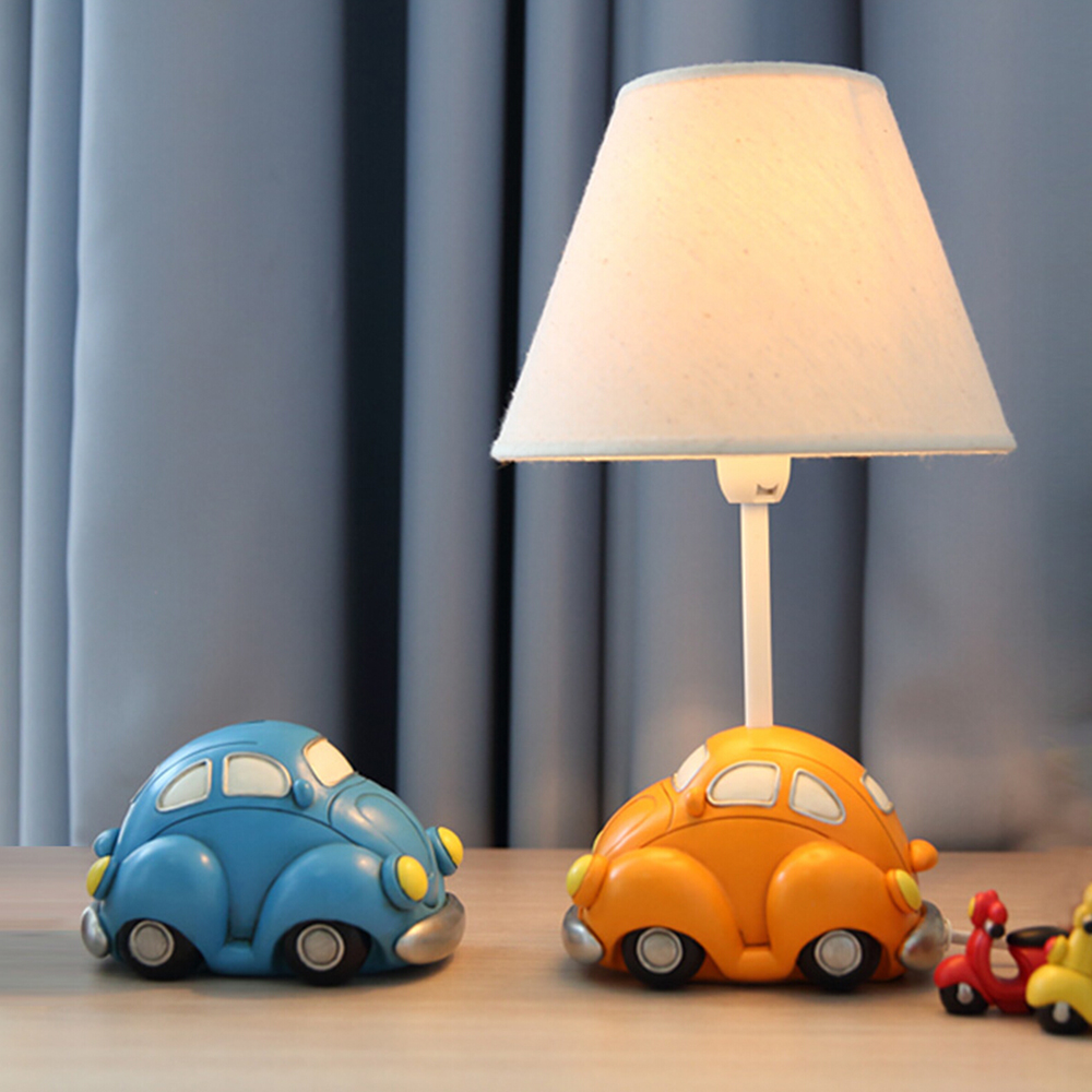 Boy Car Model Kids Desk Lamp E14 AC 110V-220V Children Room Led Lamp Table Reading Lamp Led Switch Button Reading Bed Light hghomeart children room captain bear modern table lamp kids wooden desk lamp e14 reading led lamp switch button study lamps