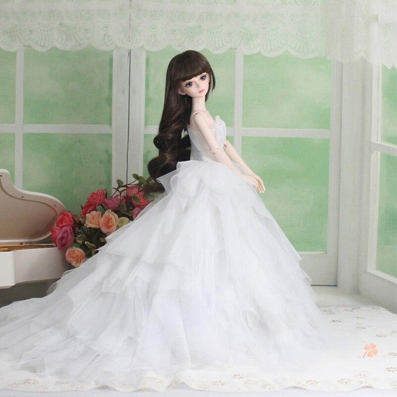 Wedding Dress Evening Dress Doll Accessories 1/3 1/4 BJD Doll Clothes Clothing Princess SD MSD BJD Clothes Toys For Girls 3