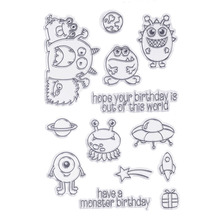 CCINEE 1PCS Cartoon Clear Stamp DIY Silicone Seals Scrapbooking/Card Making/Photo Album Decoration Supplies