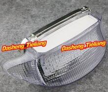 Motocicleta luz trasera LED claro + señales de vuelta para Honda CBR600 CBR 600 F3 1997 1998, y accesorios, blanco